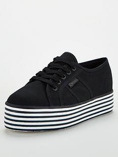superga-exclusive-2790-multi-cotu-chunky-sole-plimsoll-black-white