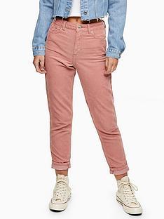 topshop-corduroy-mom-jeans-blush