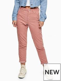 topshop-topshopnbspcorduroy-mom-jeans-blush