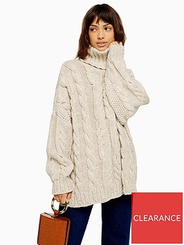 topshop-chunky-cable-knit-roll-neck-jumper-oatmeal
