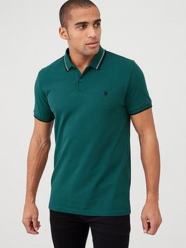 v-by-very-essentials-tipped-pique-polo-teal