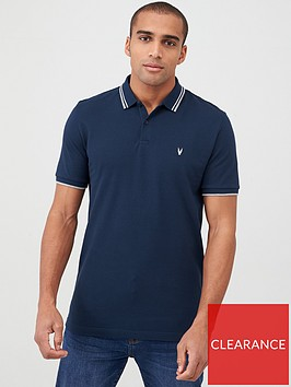 very-man-tipped-pique-polo-navy