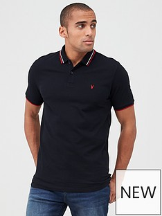 v-by-very-essentials-tipped-pique-polo-black