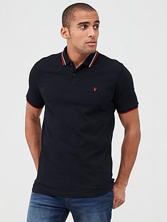 very-man-tipped-pique-polo-black