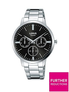 lorus-lorus-black-sunray-crystal-set-multi-dial-stainless-steel-bracelet-ladies-watch