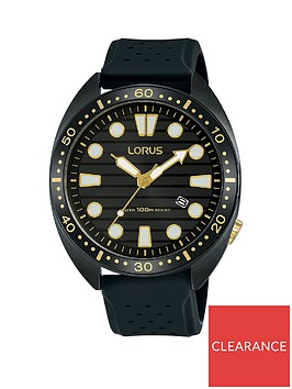 lorus-lorus-black-ip-and-gold-detail-100m-dial-black-silicone-strap-mens-watch