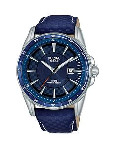 pulsar-pulsar-solar-accelerator-blue-date-dial-blue-leather-strap-mens-watch
