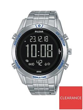 pulsar-pulsar-solar-black-and-blue-detail-digital-dial-stainless-steel-bracelet-mens-watch