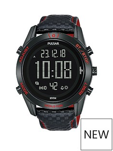 pulsar-pulsar-solar-black-and-red-detail-digital-dial-black-leather-strap-mens-watch