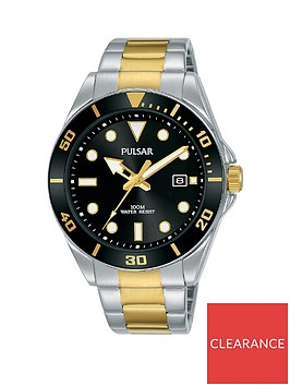 pulsar-pulsar-black-sunray-and-gold-detail-date-dial-two-tone-stainless-steel-bracelet-mens-watch
