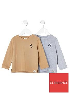 river-island-mini-mini-boys-2-pack-long-sleeve-t-shirts-greystone