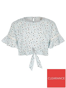 river-island-girls-floral-print-tie-front-top-blue