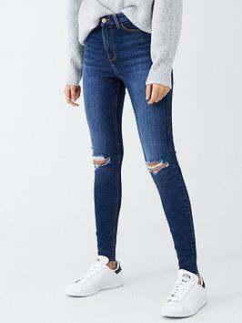 v-by-very-ella-high-waist-knee-rip-skinny-jean-dark-wash