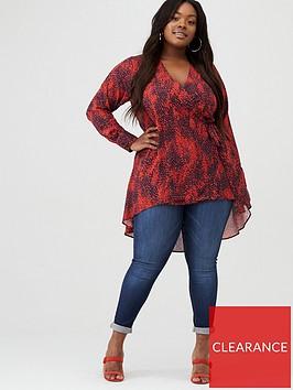 v-by-very-curve-wrap-dip-hem-blouse-red-print