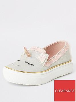 river-island-mini-mini-girls-glitter-unicorn-plimpsolls-pink