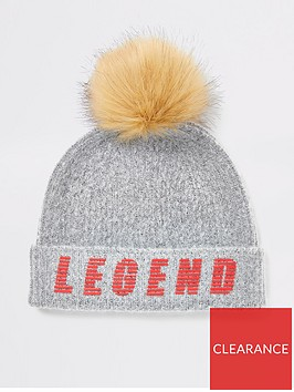 river-island-boys-legend-faux-fur-pom-beanie-hat-grey