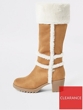 river-island-girls-faux-fur-heeled-knee-high-boots-brown