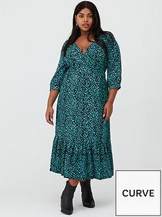 v-by-very-curve-dalmatian-print-midaxi-dress-teal