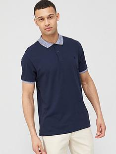 v-by-very-marl-collar-jersey-polo-navy