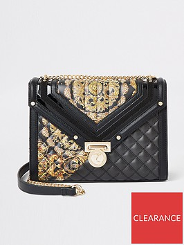 river-island-river-island-printed-quilted-cross-body-bag-black