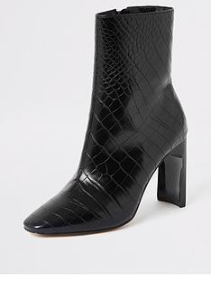 river-island-river-island-croc-embossed-ankle-boot-black