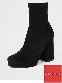 river-island-platform-ankle-boot-black