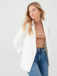 river-island-river-island-turn-up-sleeve-blazer--white