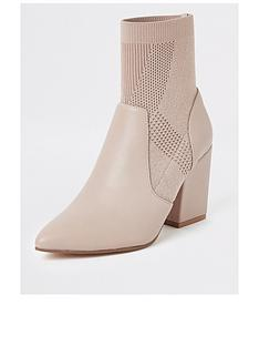 river-island-river-island-knitted-sock-boot-light-pink
