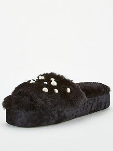 v-by-very-pearl-embellished-slider-slippers-black