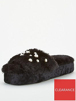 v-by-very-pearl-embellished-slider-slippers-black