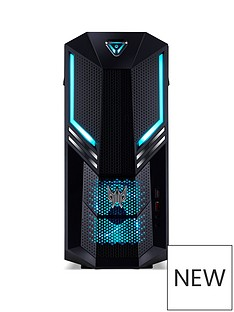 Acer Predator PO3-600 Intel Core i5, 8GB RAM, 2TB HDD + 256GB SSD, Nvidia GTX 1660Ti Graphics, Gaming Desktop - Black