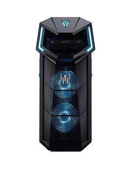 Acer Predator Po5-610 Intel Core I7, 16Gb Ram, 1Tb Hdd + 256Gb Ssd, Nvidia Rtx 2060 Graphics, Gaming Desktop - Black
