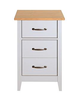 Norfolk 3 Drawer Bedside Chest