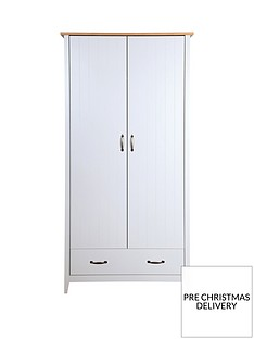 Norfolk 2 Door, 1 Drawer Wardrobe