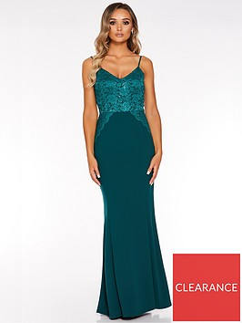quiz-quiz-scuba-crepe-sequin-lace-strappy-maxi-dress