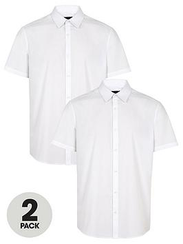 v-by-very-2-packnbspshort-sleeved-easycare-shirts-white