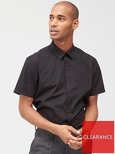 very-man-two-pack-short-sleeved-easycare-shirts-black