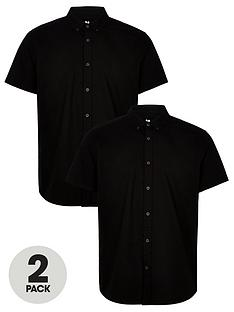 very-man-2-pack-short-sleeved-button-down-oxford-shirt-black