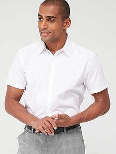 v-by-very-single-short-sleeved-easycare-shirt-white