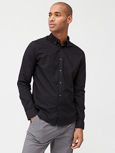 v-by-very-long-sleeved-button-down-oxford-shirt-black