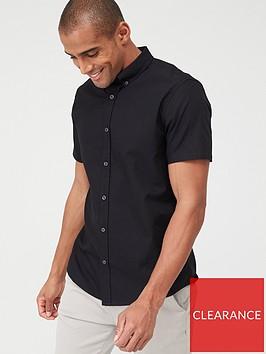 very-man-short-sleeved-button-down-oxford-shirt-black