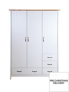 Norfolk 3 Door, 4 Drawer Wardrobe