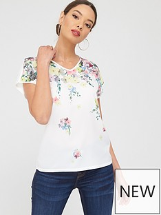 ted-baker-pergola-woven-front-tee-ivorynbsp