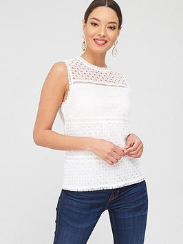 ted-baker-lace-panelled-top-ivorynbsp
