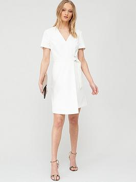 ted-baker-marimel-short-sleeve-wrap-dress-white