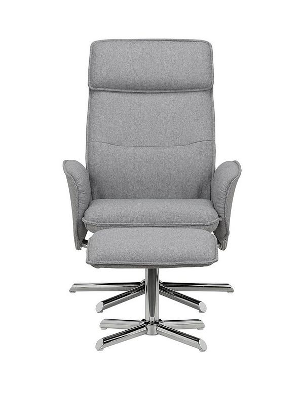 Miraculous Aria Fabric Recliner Chair And Stool Creativecarmelina Interior Chair Design Creativecarmelinacom