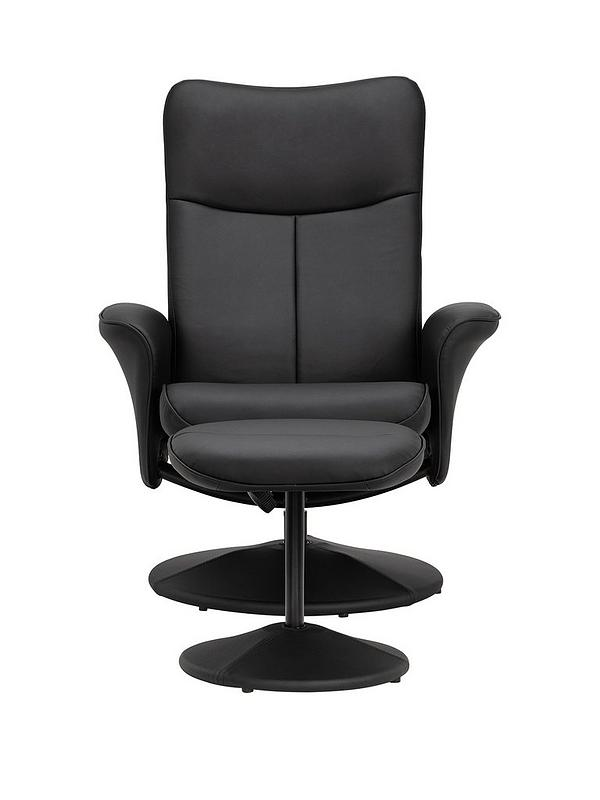 Sensational Lugano Faux Leather Recliner Chair And Stool Evergreenethics Interior Chair Design Evergreenethicsorg