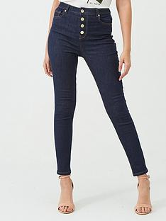 ted-baker-leppie-button-detail-front-jean-indigo