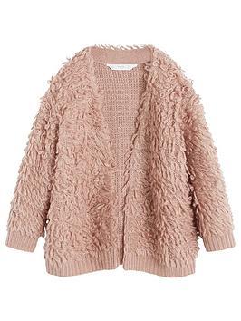 mango-girls-oversized-curly-cardigan-pink