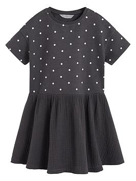 mango-girls-spot-drop-hem-sweat-dress-charcoal